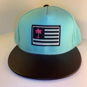 Neff Teal Palm Tree Flag SnapBack Hat